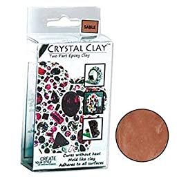 50 Grams Crystal Clay Two Part Epoxy Mix - Sable (Medium Brown)