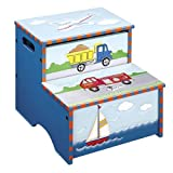 Kid's Step Stool Storage - Transportation Collection Blue Finish