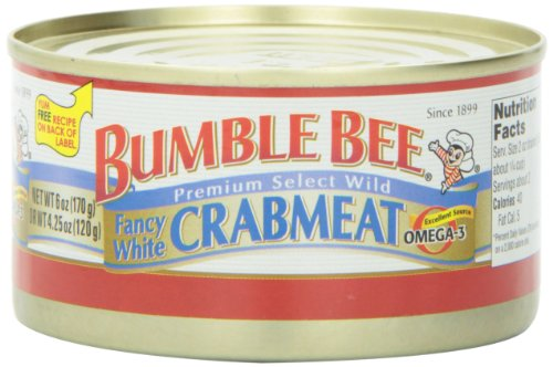 Bumble Bee Fancy White Crab, 6 Ounce