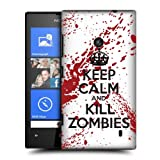 Nokia Lumia 520 Hard Plastic (PC) Case - Keep Calm and Kill Zombies Red/White Cover
