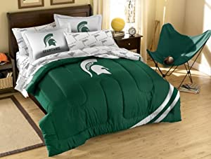 NCAA Michigan State Spartans Full Bed in a Bag with Applique Comforter by Northwest