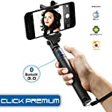 #9: Xtra Extendable Selfie Stick Bluetooth Monopod with Built-In Shutter Button|Wireless Telescoping Stick with 270° Adjustable Holder for iPhone & Android Devices|Handheld & Portable for Perfect Shots