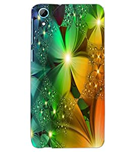 HTC ONE M7 FLOWERS Back Cover by PRINTSWAG