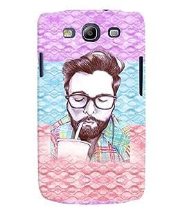 PRINTVISA Beard Man Case Cover for Samsung Galaxy S3 I9300