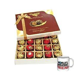 To A Wonderful Friend With Friendship Mug - Chocholik Luxury Chocolates