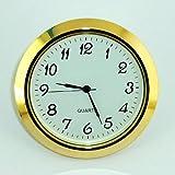 Clock  55mm Gold Bezel fits 50mm hole Arabic Numerals White Dial Quartz Watch s