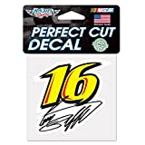 Greg Biffle Official NASCAR 4 inch x 4 inch Die Cut Car Decal by Wincraft