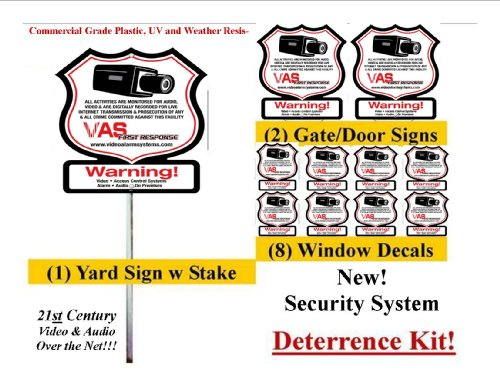 Security Vas #100K Sign & Security Decal 21St Century Surveillance Alarm Warning Kit front-1037739