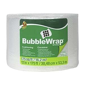 Duck Brand Bubble Wrap Original Cushioning, 12 Inches Wide x 175 Feet Long, Single Roll (1053440)