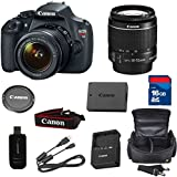 Top Value Bundle For T5 Digital SLR Camera with EF-S 18-55mm f/3.5-5.6 IS Lens + High Speed 16GB Memory Card + High Speed Reader + Deluxe Case + 5pc Bundle