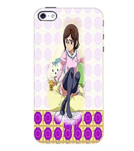 PrintDhaba Cute Girl D-2932 Back Case Cover for APPLE IPHONE 4S (Multi-Coloured)