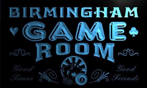Pl2147-B Birmingham Game Room Man Cave Beer Bar Neon Light Sign