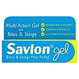 6 x Savlon Bites & Stings Pain Relief Gel 20g
