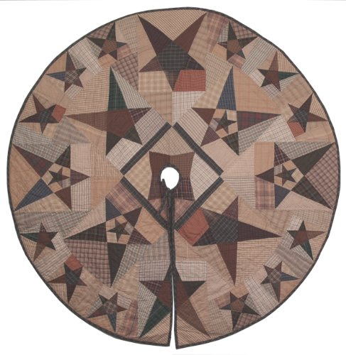 Primitive Star Quilted Christmas Tree Skirt