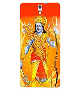 ColourCraft Lord Rama Design Back Case Cover for SONY XPERIA C5 ULTRA
