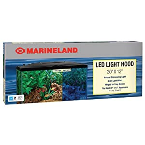Marineland LED Aquarium Hood, 30 by 12