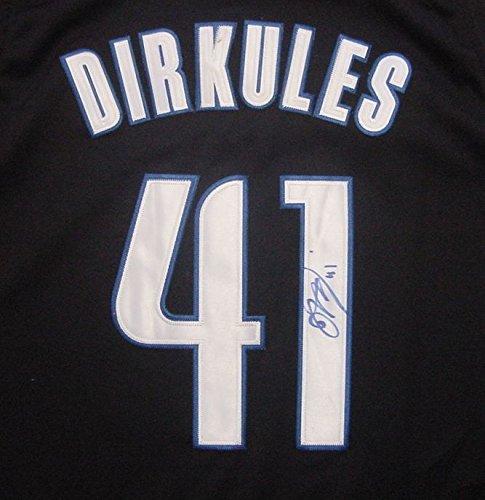 Dirk Nowitzki Dallas Mavericks Autographed Black Nickname #41 Jersey