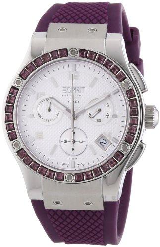 Esprit Collection - Reloj para mujer de caucho blanco