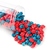 Patriotic Navy Blue and Red Gourmet Candy Coated Popcorn 1 Pound Jar – Blueberry Cherry – Oh! Nuts image