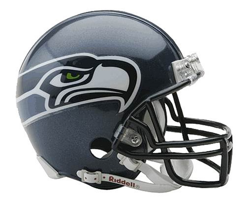 NFL Seattle Seahawks Replica Mini Football Helmet at Amazon.com