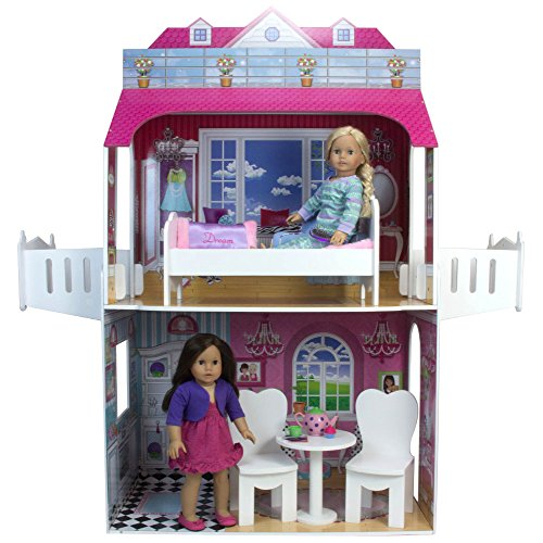 18 Inch Doll Wooden Dollhouse Furniture 4 Pc Set Perfect For Doll 18 Inch Furniture American