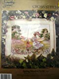 Spring Meadow Scene Embellished Cross Stitch Kit