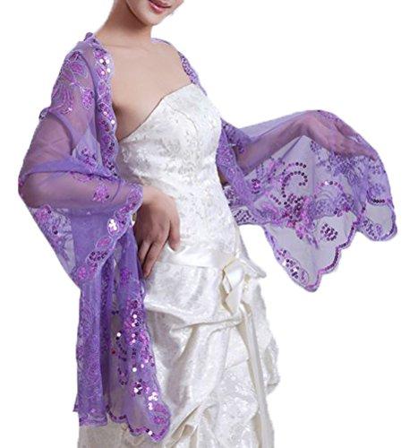 Beautygowns Long Sheer Bridal Evening Shawl Shrug Stole Wrap W3