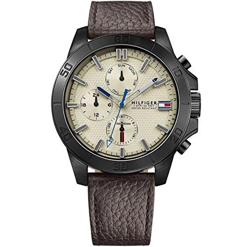 Tommy Hilfiger Herren-Armbanduhr Analog Quarz Leder 1791164 thumbnail