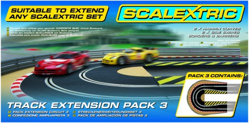 Scalextric C8512 1:32 Scale Track Extension Pack 3 - Hairpin Curve Sport Building and Sport Track Accessory