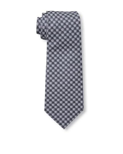 Valentino Men's Floral Grid Tie, Blue