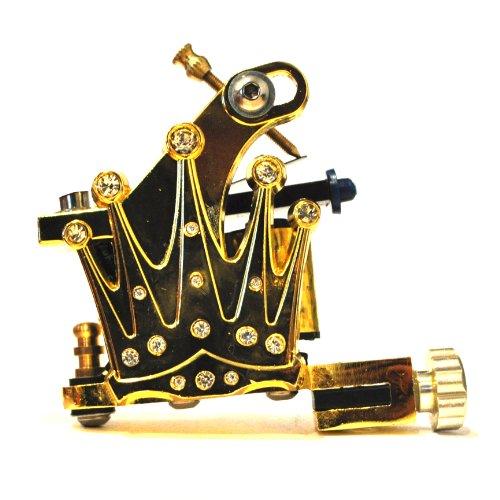 Gold Crown Pro Tattoo Machine/Gun -Liner/Shader By Devils Needle (Dngu00450)