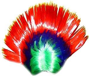 WeGlow International Rainbow Mohawk Wig (Pack Of 2)