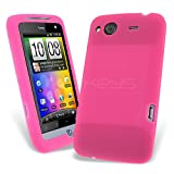 Celicious Bright Pink Soft Silicone Skin Case for HTC Salsa HTC Salsa Case Cover