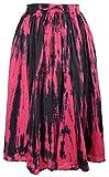 Jordash Tie Dye Cotton A-line Panel/Godet 3/4 Skirt JD/SK/8301 Women Festival Hippy Gypsy Holiday Ethnic