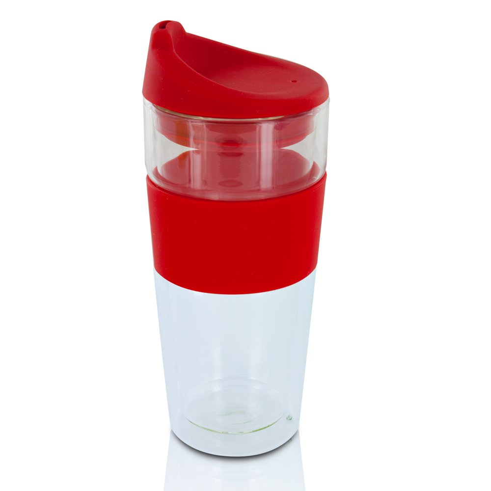 beautiful glass travel mugs with lids for coffee or tea u2022 top off