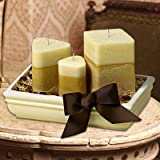 CALMING CANDLES GIFT BASKET - WITH NATURAL PALM WAX - PERFECT GIFT FOR SYMPATHY or NEW HOME HOUSE WARMING GIFT ARRANGEMENT