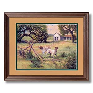 hunting quail birds wall decor animal cabin lodge picture framed art