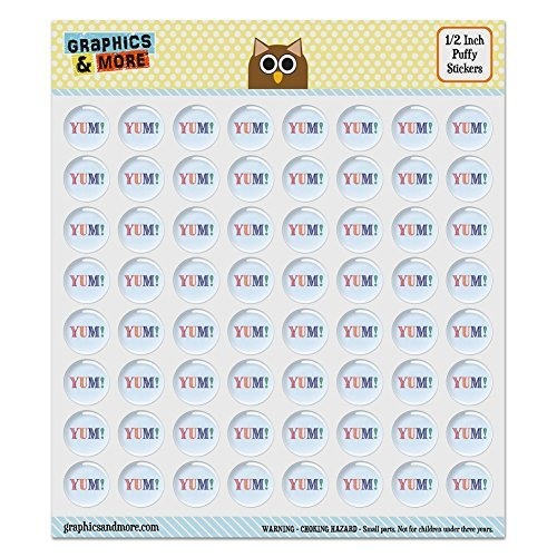 puffy-bubble-dome-scrapbooking-crafting-stickers-yum-yummy-set-of-64-05-13mm-diameter-each-by-graphi