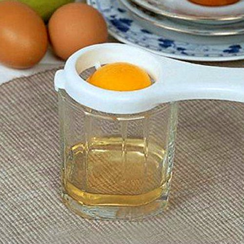 DGI MART Creative Design Kitchen Tool Gadget Convenient Egg Yolk White Separator-Small and Thin Style