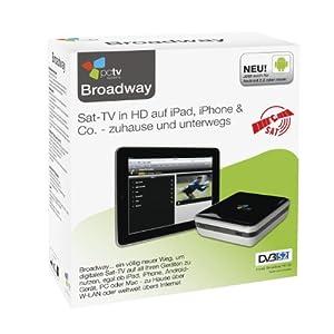 PCTV Broadway HD-S2 - DVB-S2 (HD) Satelliten TV/Videorecorder für iPhone, iPad, Android, Mac und PC - weltweit über Internet und WLAN