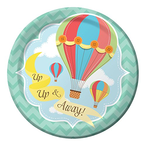 Creative Converting Up, Up & Away 7-Inch Lunch Plates (8 Count) (Hot Air Balloon Paper Plates compare prices)