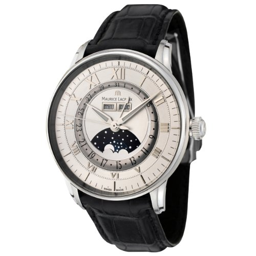 Maurice Lacroix Men's MP6428-SS001-11E Masterpiece Collection Automatic Black Alligator Watch