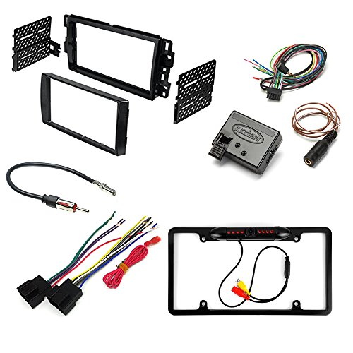 GM MOTORS VEHICLES ( SELECT MODELS ) AFTEMARKET CAR STEREO INSTALL KIT DASH MOUNTING KIT + RADIO HARNESS + RADIO ANTENNA ADAPTER + REAR VIEW CAMERA + STEERING WHEEL INTERFACE (Hummer H2 Rear View Camera compare prices)