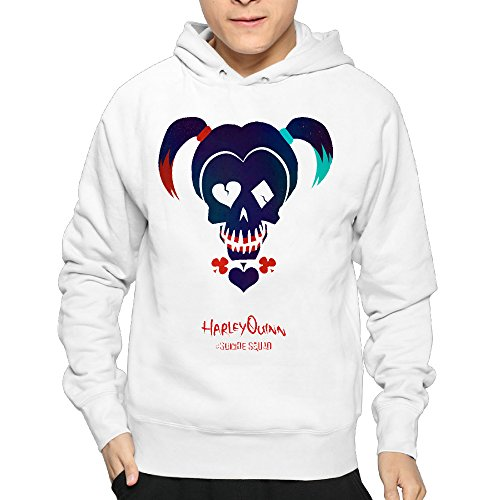 Lightweight 80's Juniors Man's Suicide Squad Harley Quinn Small Hoodie (Kids Harley Quinn Mallet)