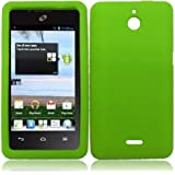 For Huawei Ascend Plus H881C Silicone Jelly Skin Cover Case Neon Green Accessory