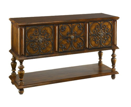 Cheap Hammary 090-306 Hidden Treasures Poplar Console Table (090-306)