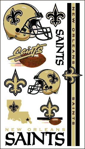 NFL Temporary New Orleans Saints Tattoo at Amazon.com