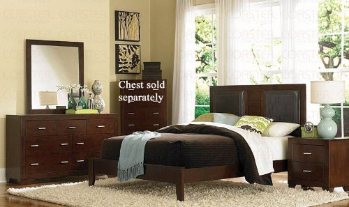 4pc King Size Bedroom Set in Cherry Finish