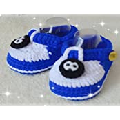 Sky Blue White With Hand-knitted Wool Baby Shoes Baby Toddler Soft Soled Baby Shoes Double Sole One Hundred Days...