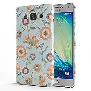 Koveru Back Cover Case for Samsung Galaxy A5 - Blue Flower Art